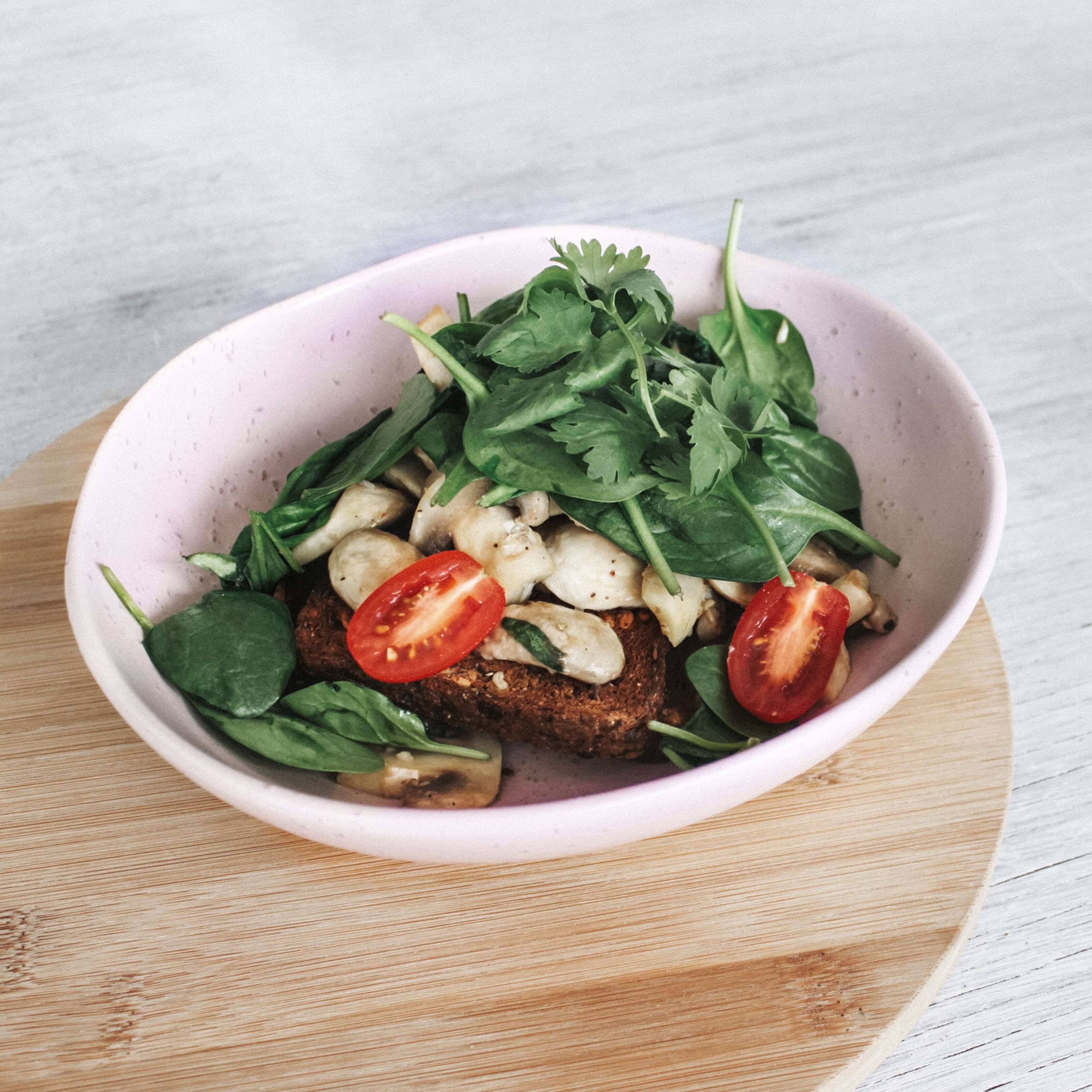 bowl, vegetables, meat