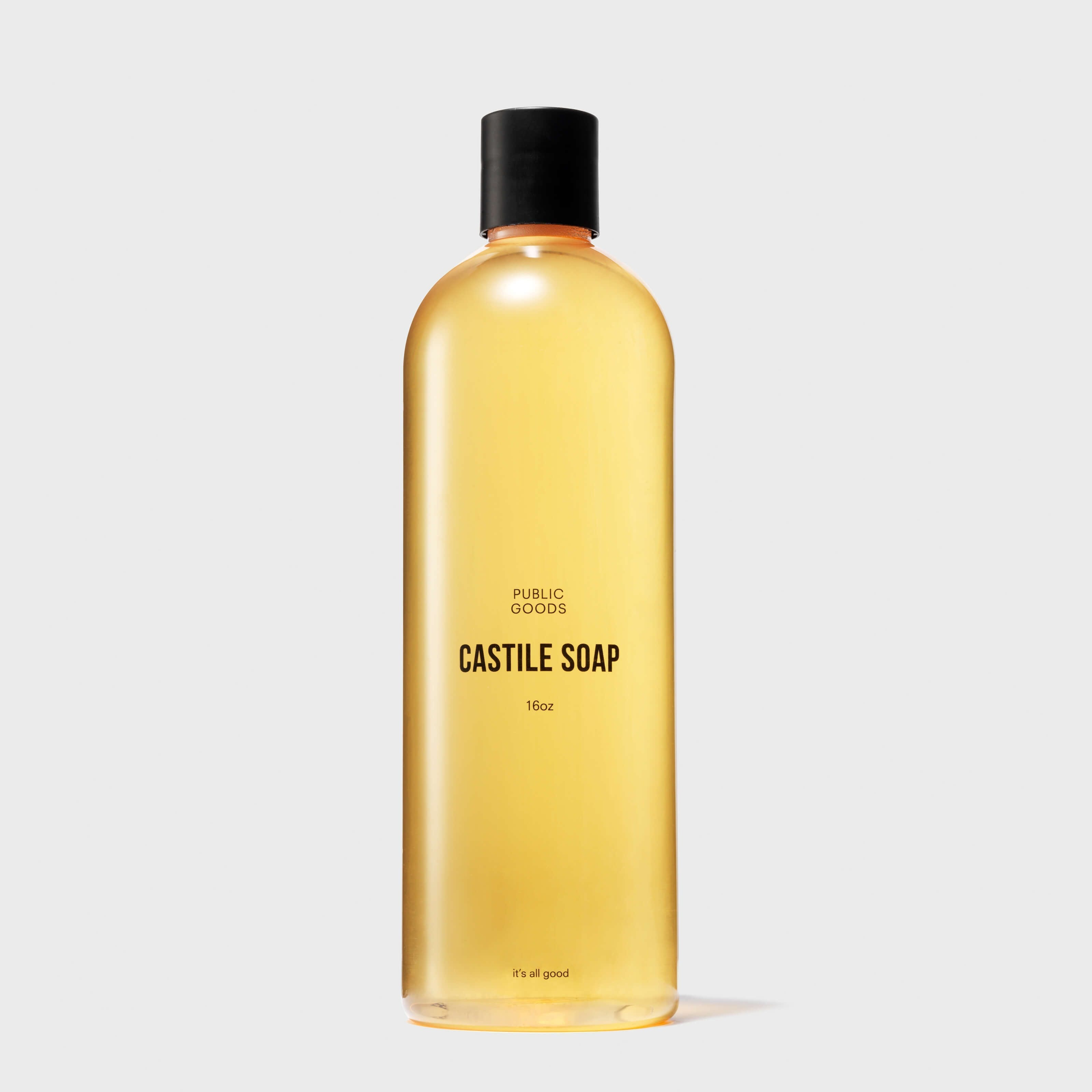 public goods castile soap bottle