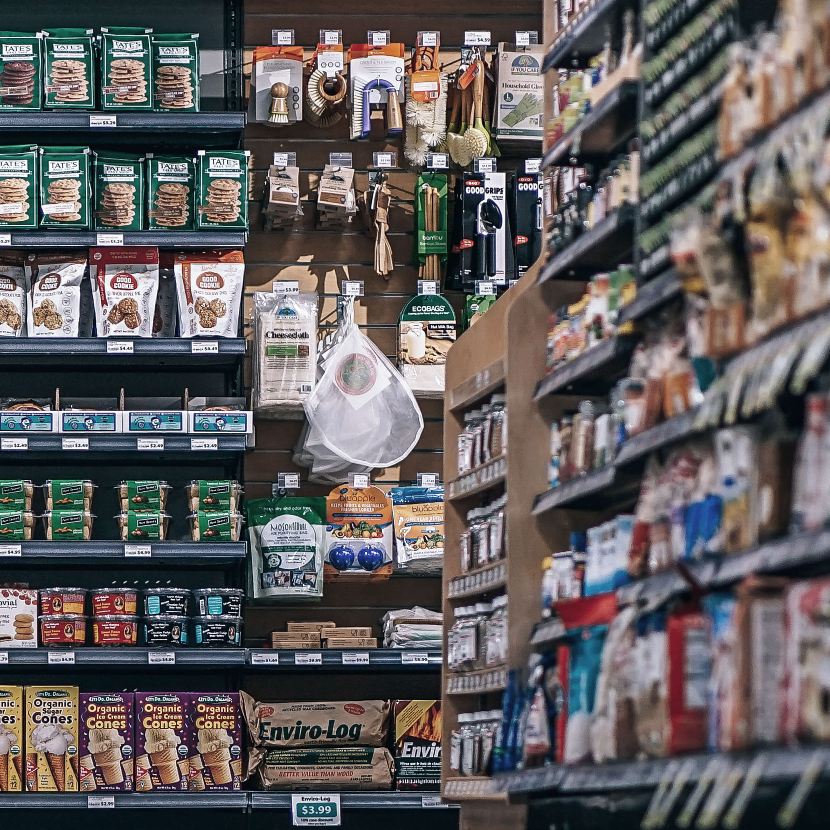store, products, shelves