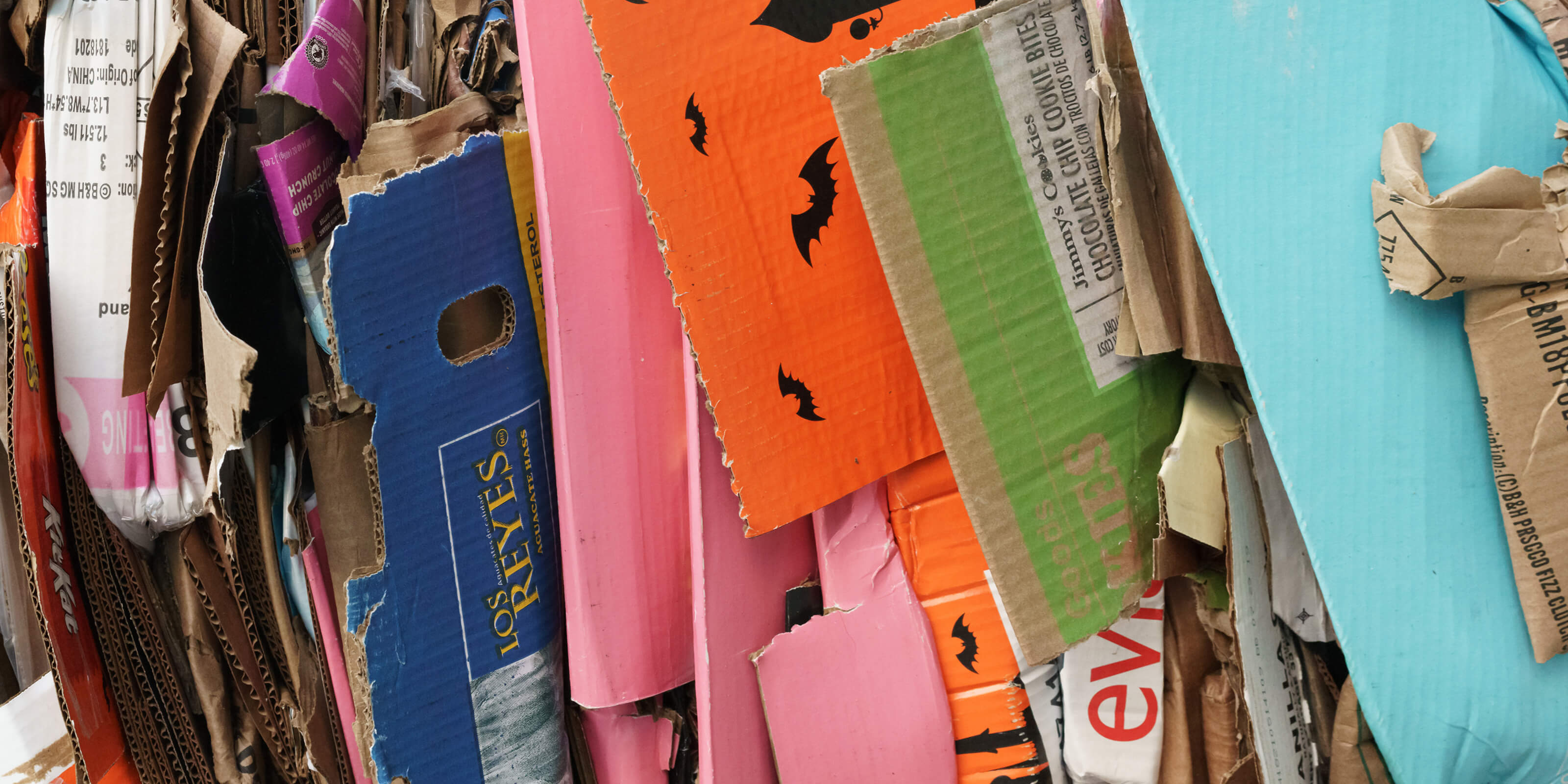 folded cardboard boxes