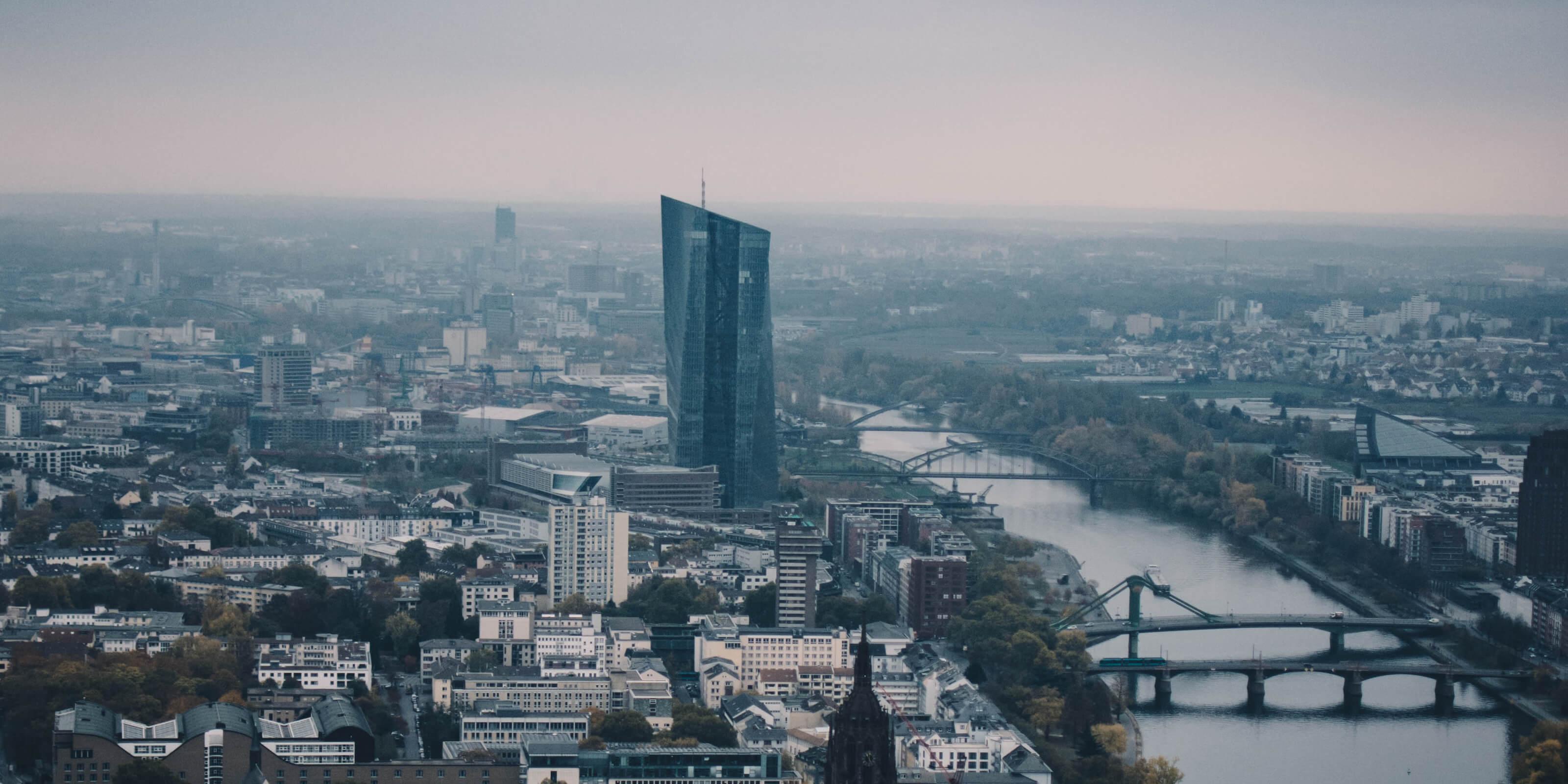 frankfurt aerial city view