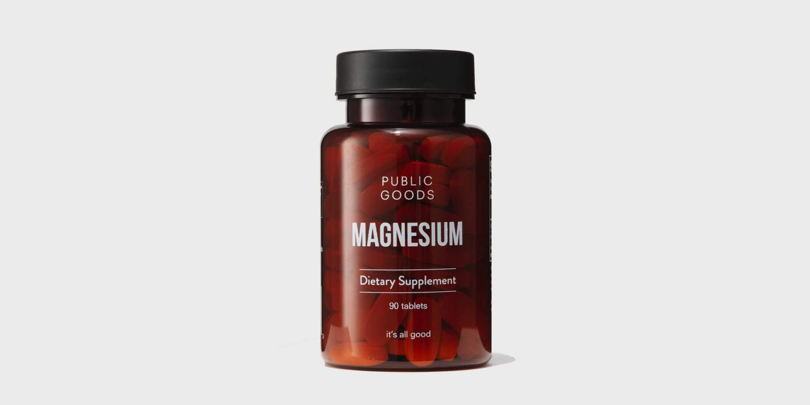 public goods magnesium supplement bottle