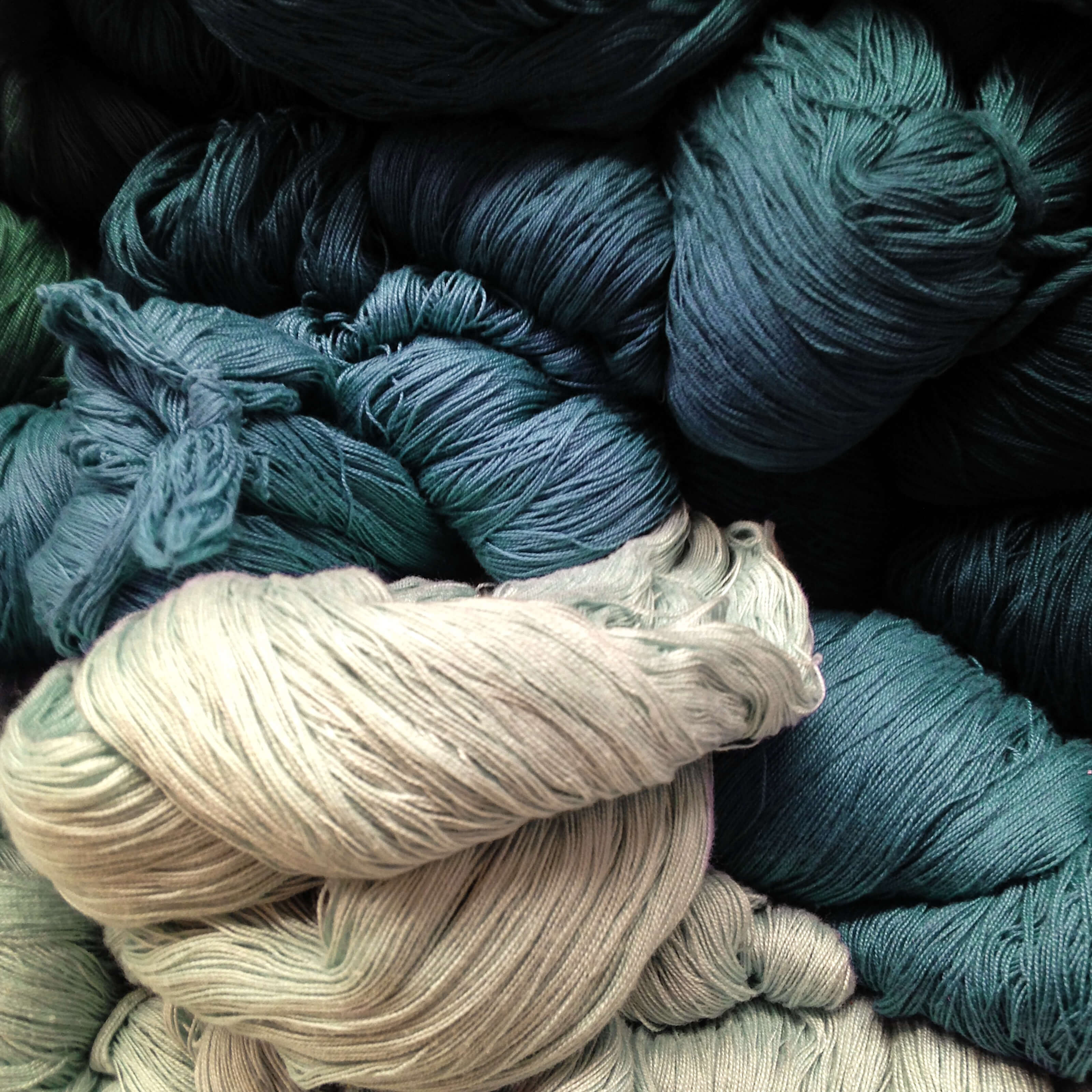 pile of yarn rolls