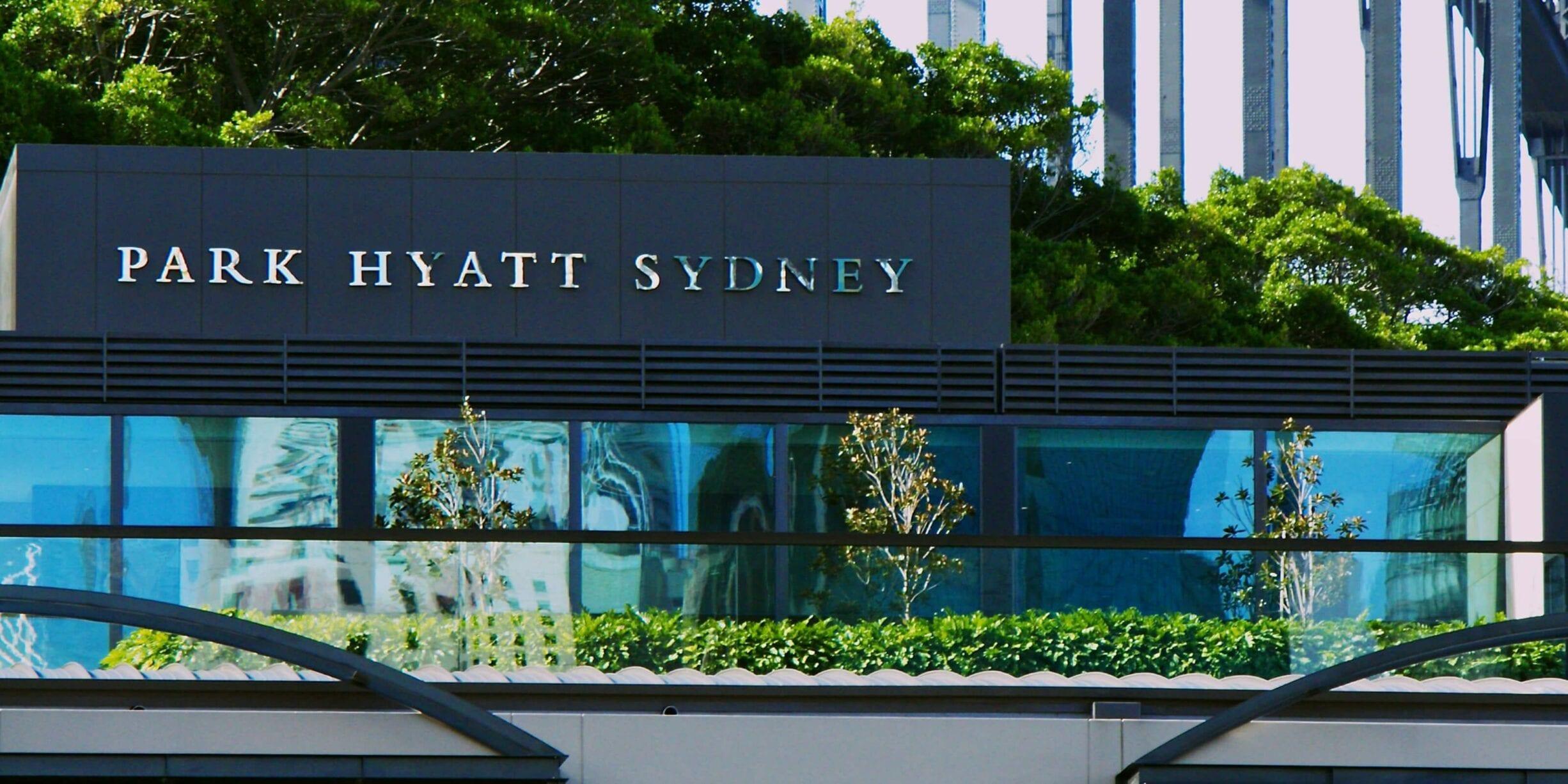park hyatt sydney lobby exterior