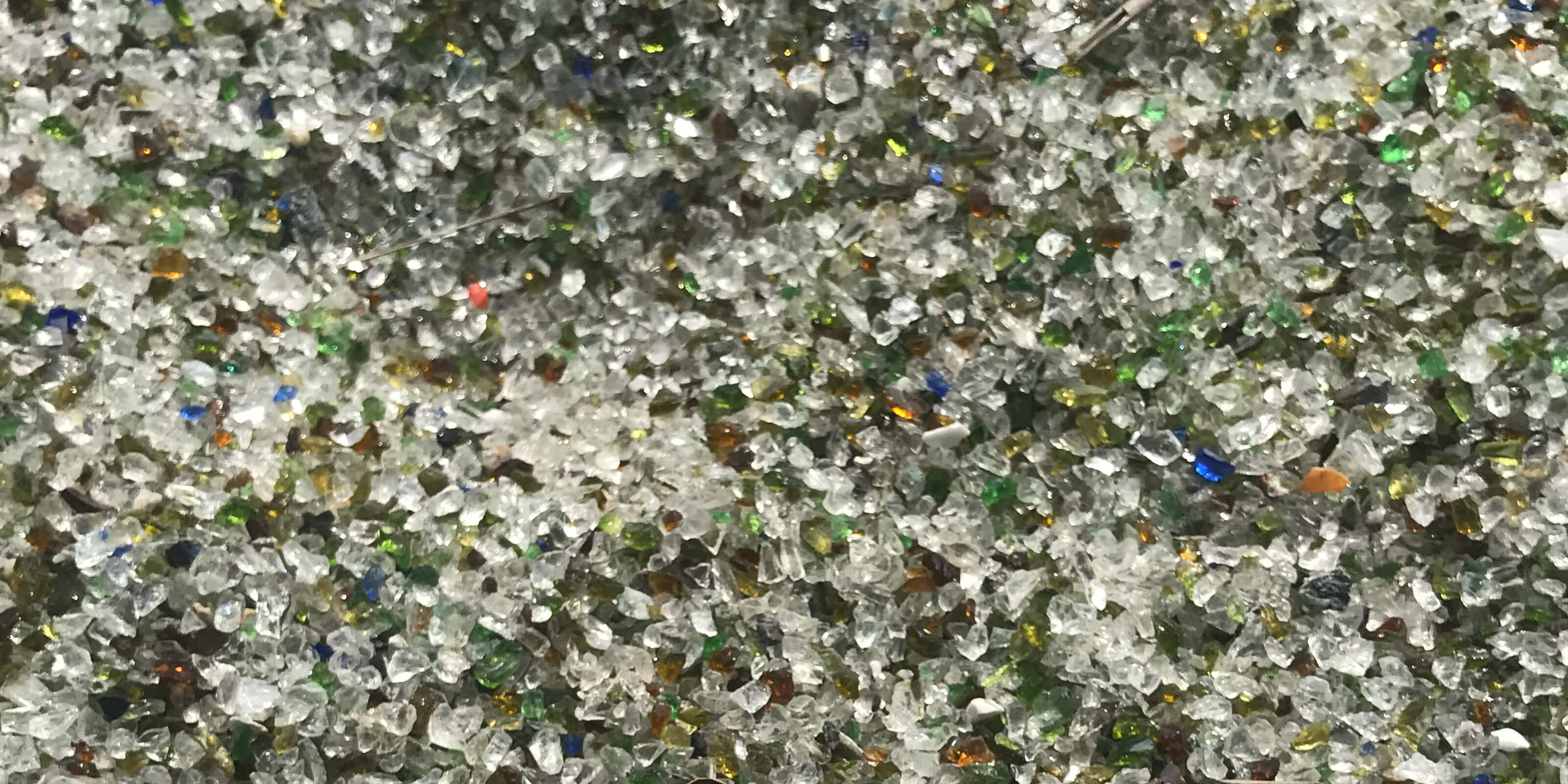 crushed glass pebbles