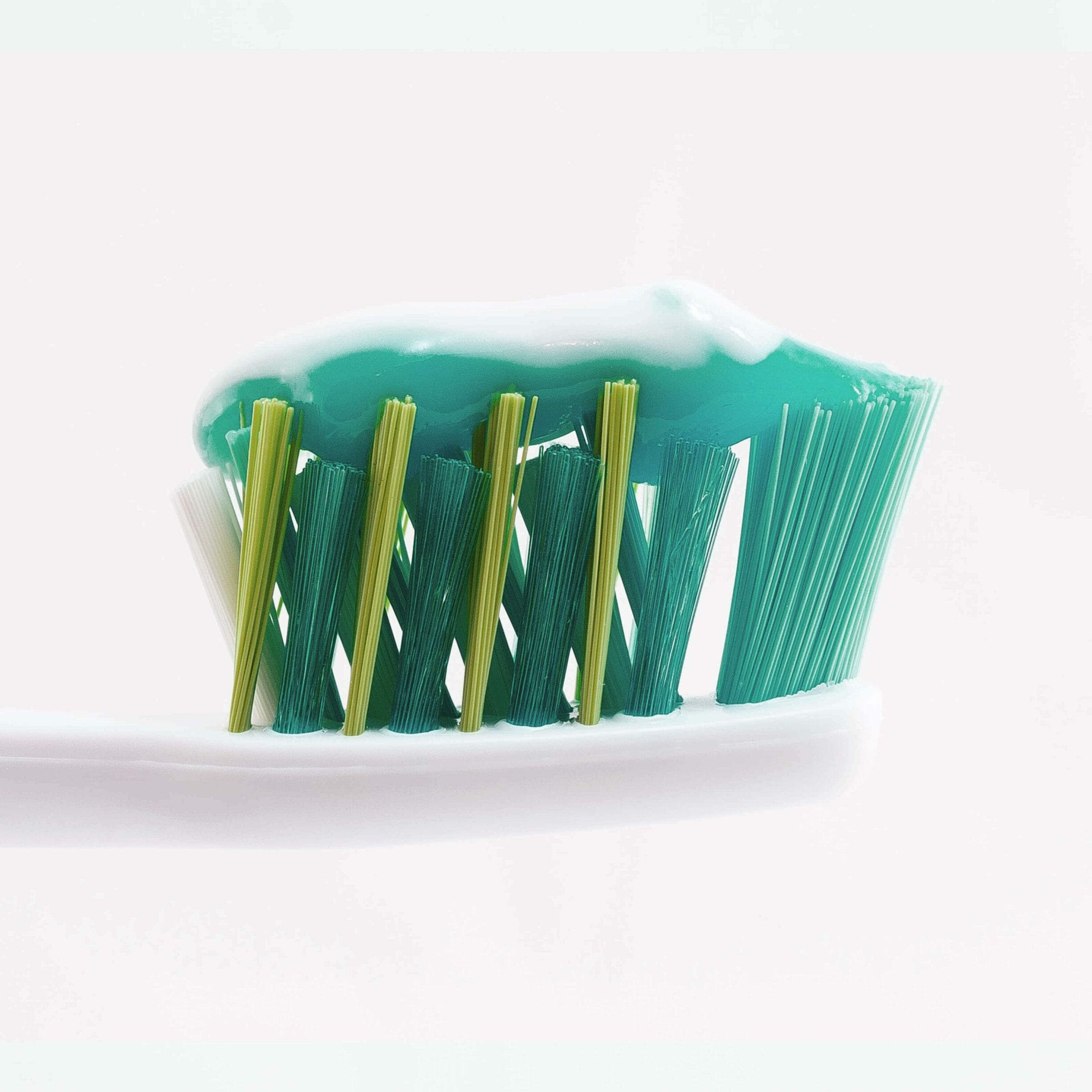 toothbrush head with toothpaste