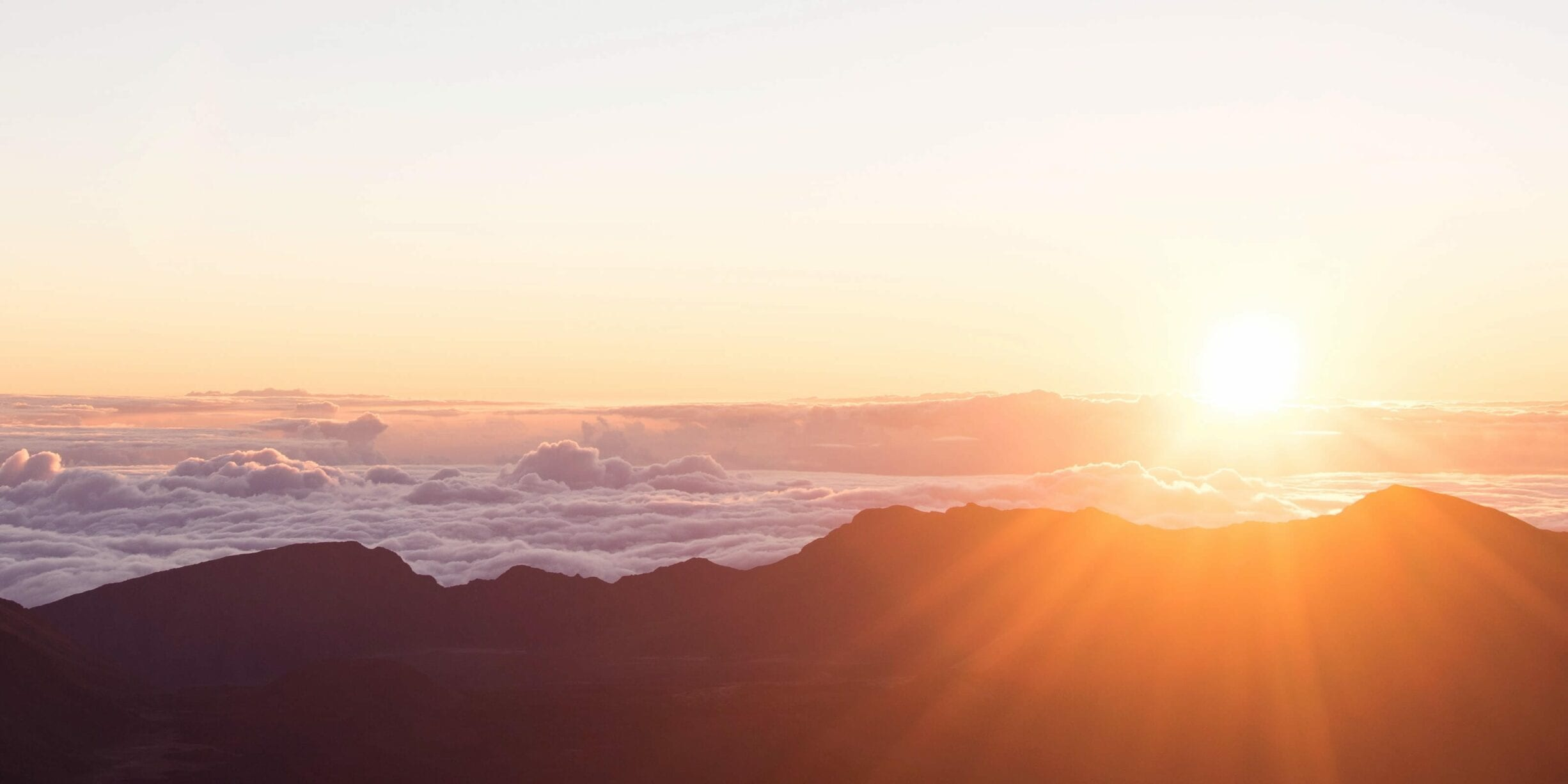 mountain, sunset