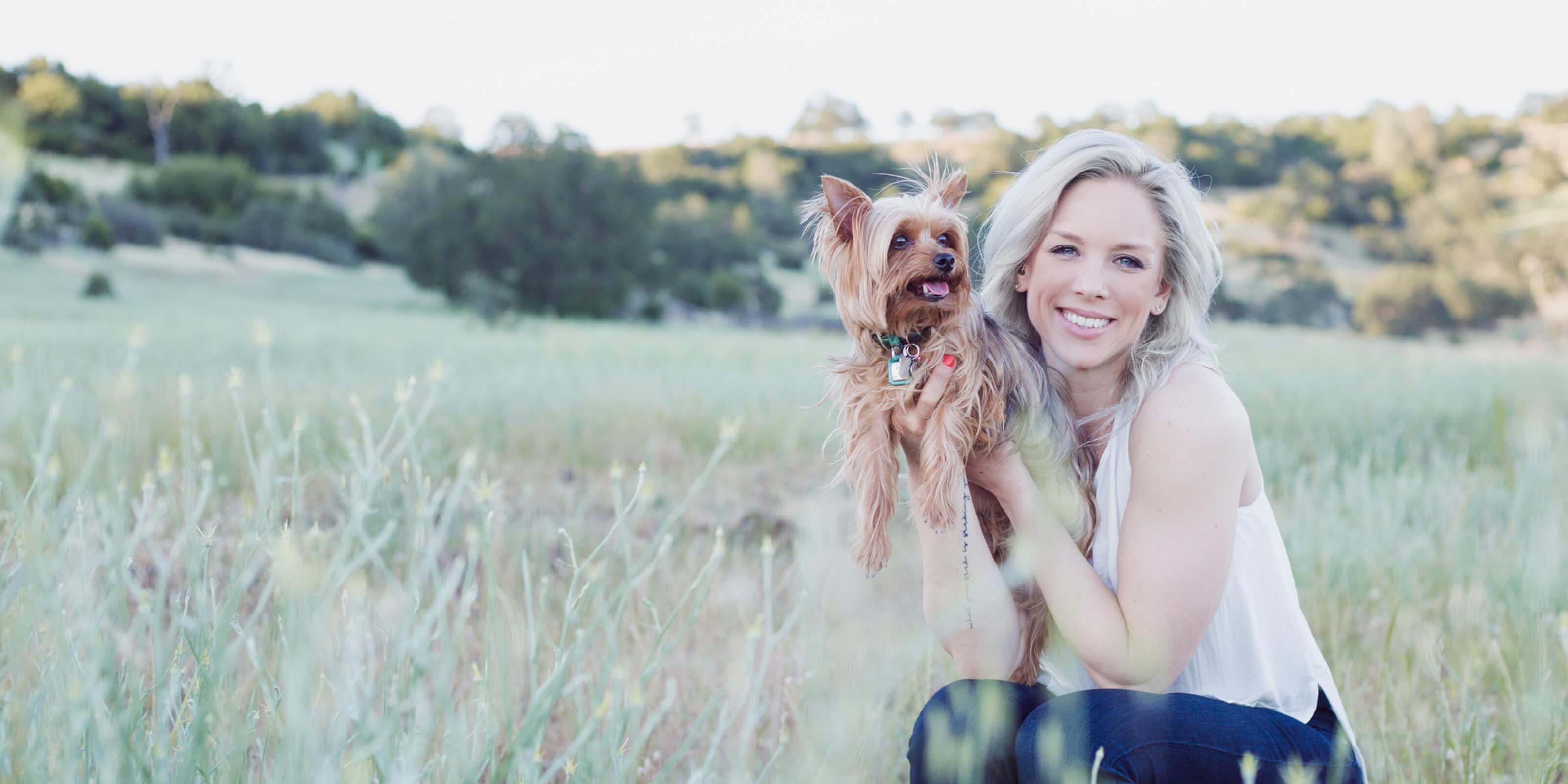alex waite holding dog