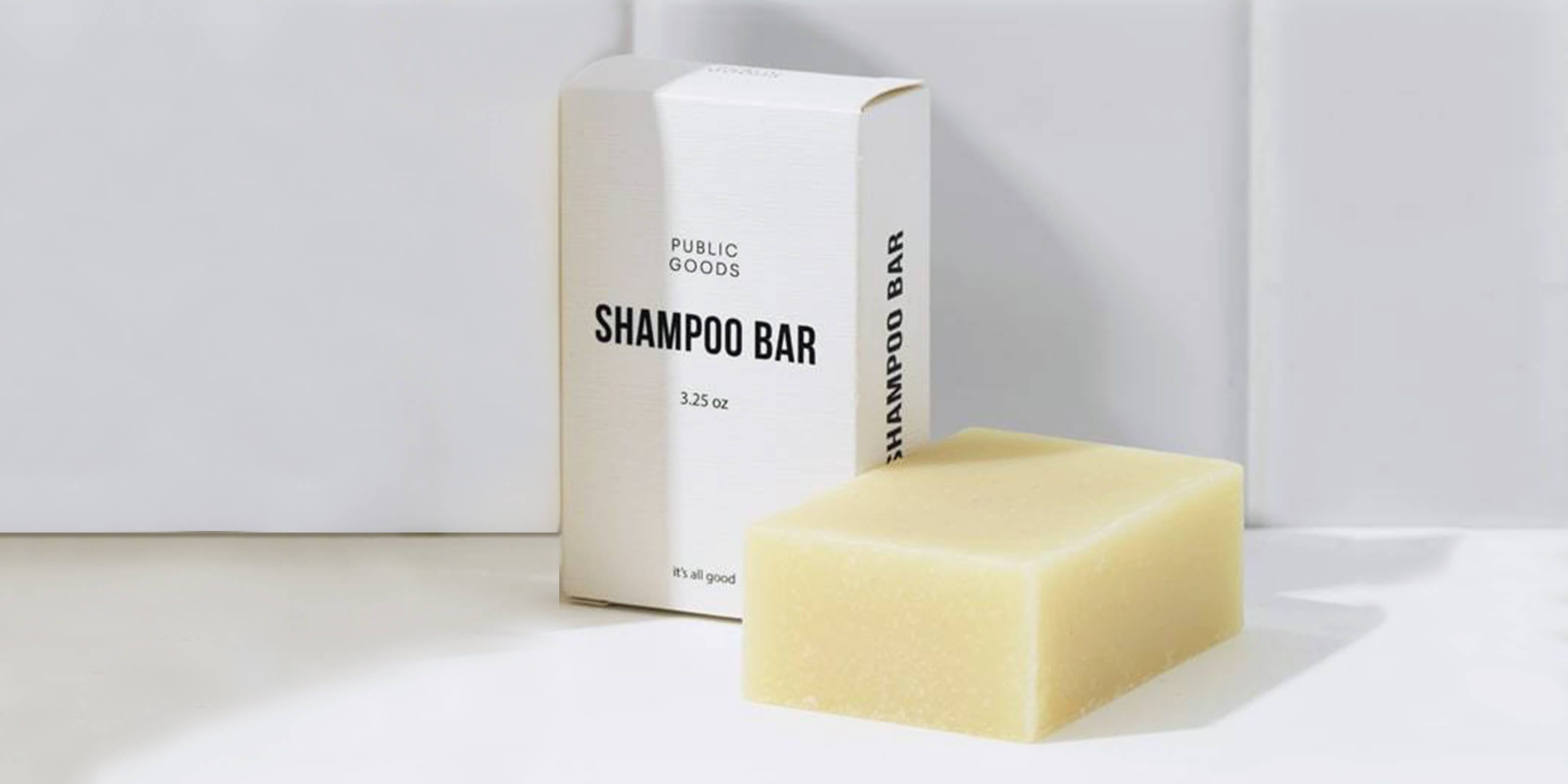 public goods shampoo bar, box