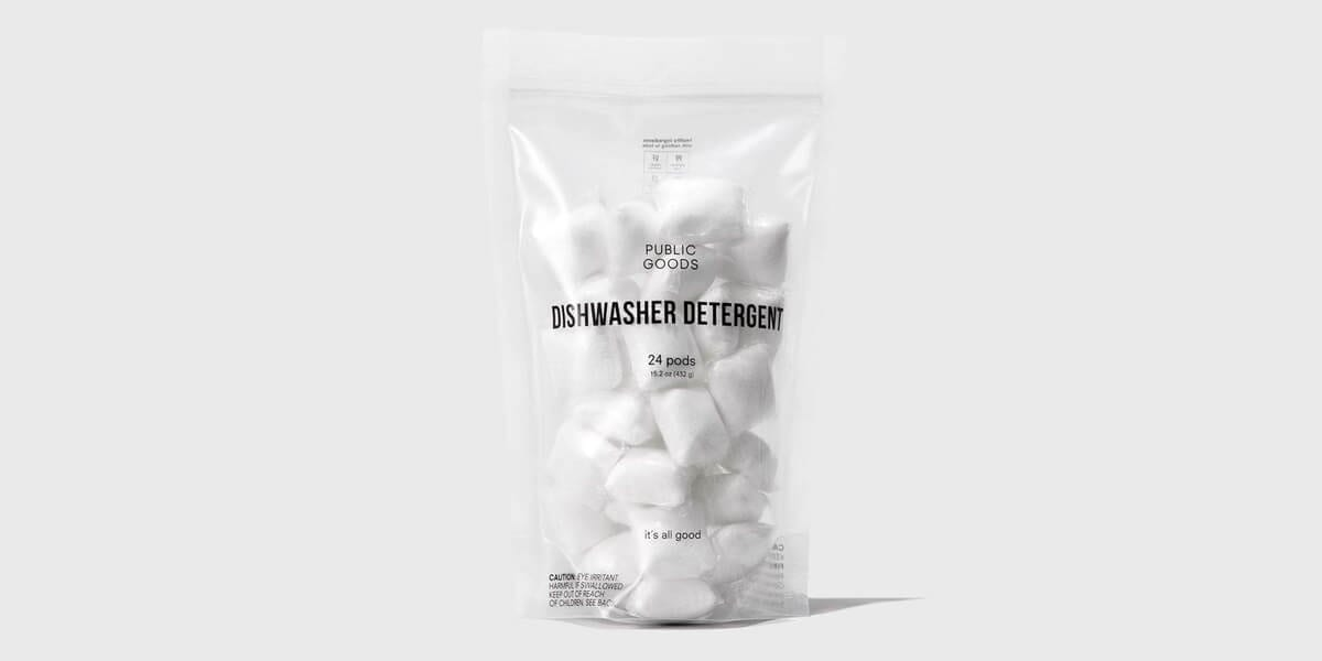 public goods dishwasher detergent pods in bag