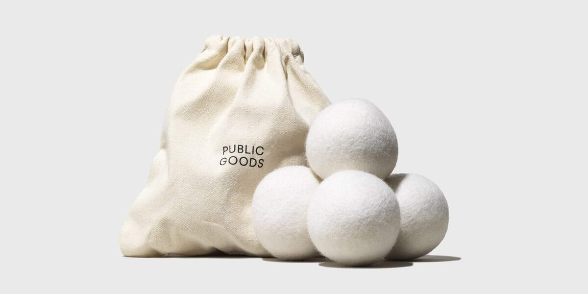 public goods wool dryer balls and bag