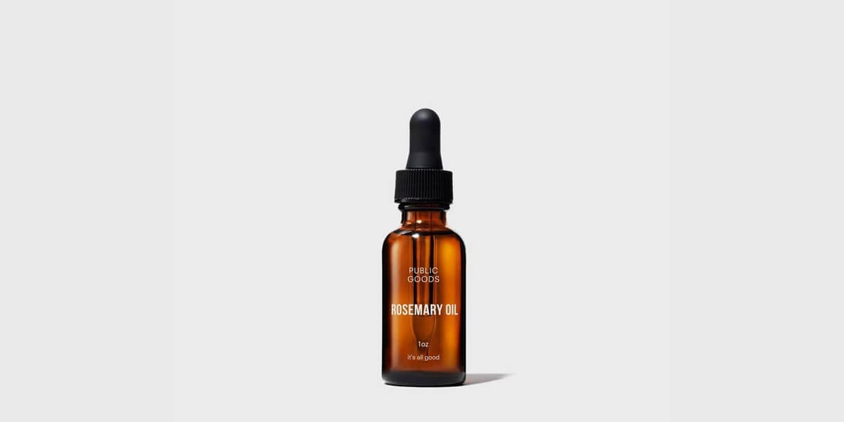 amber glass bottle rosemary essential oil