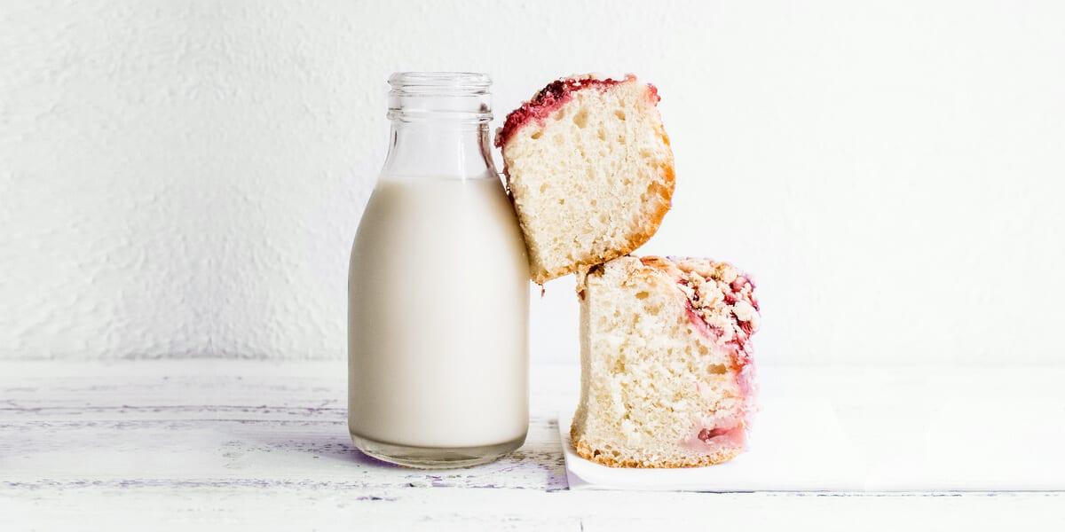 plank milk, two loaves of sweet bread