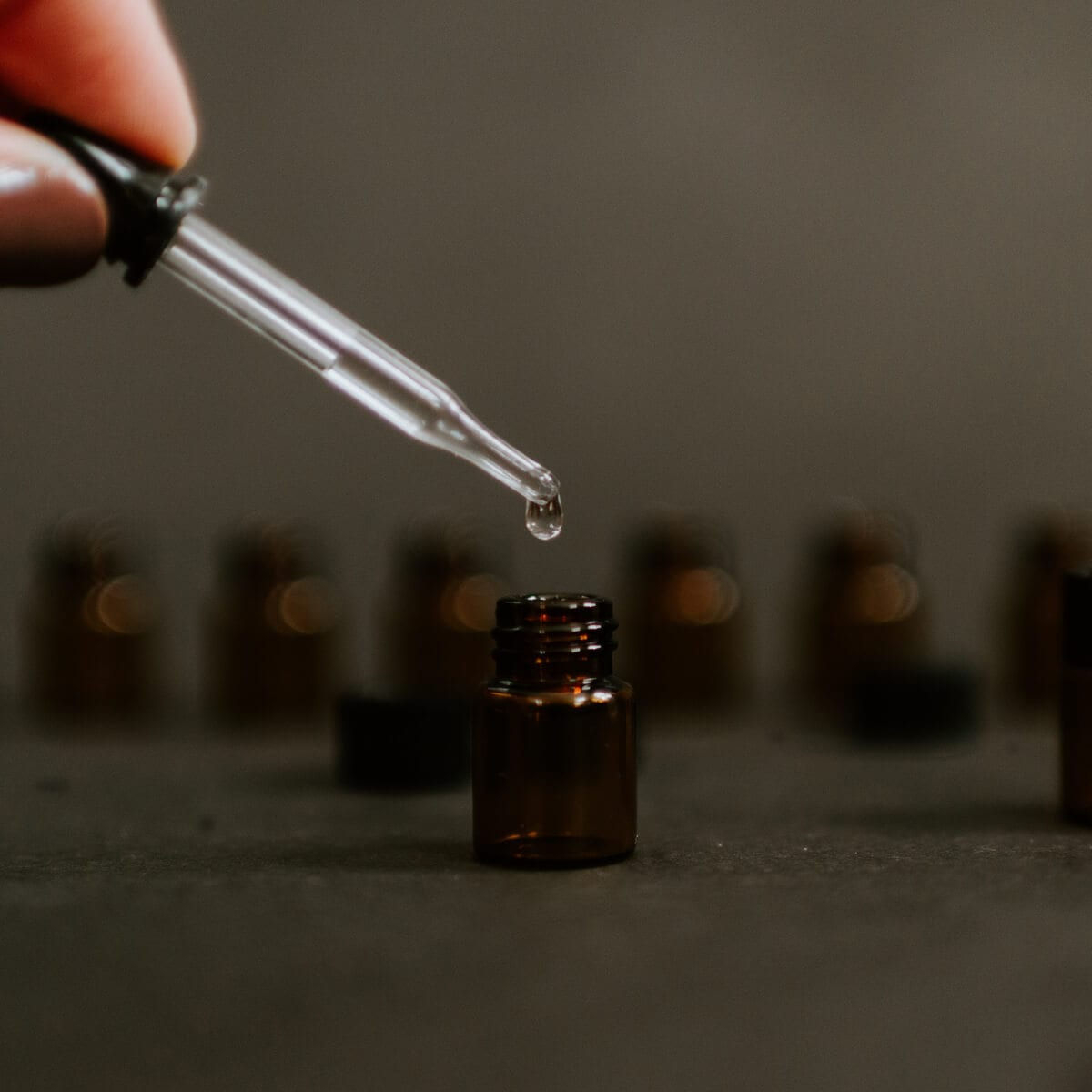 essential oil dropper and bottle