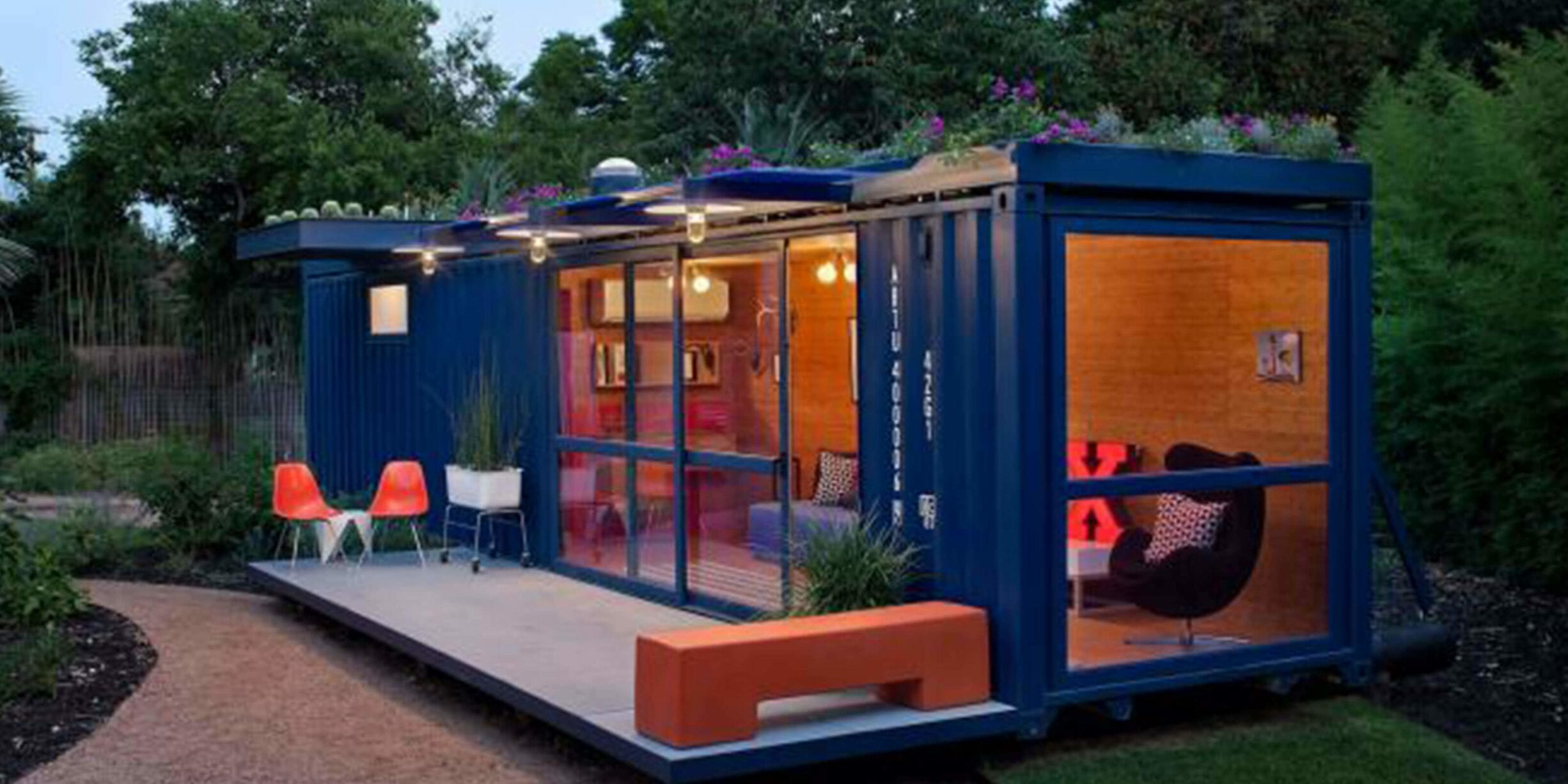 container guest house interior