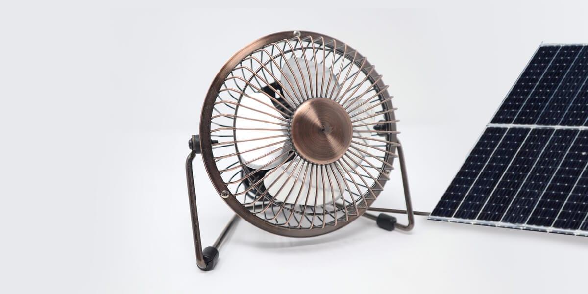 solar powered fan, solar panel