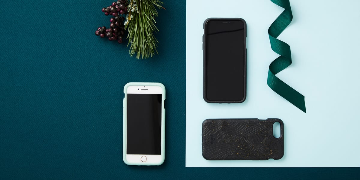 pela cases on iphones, christmas holly, ribbon