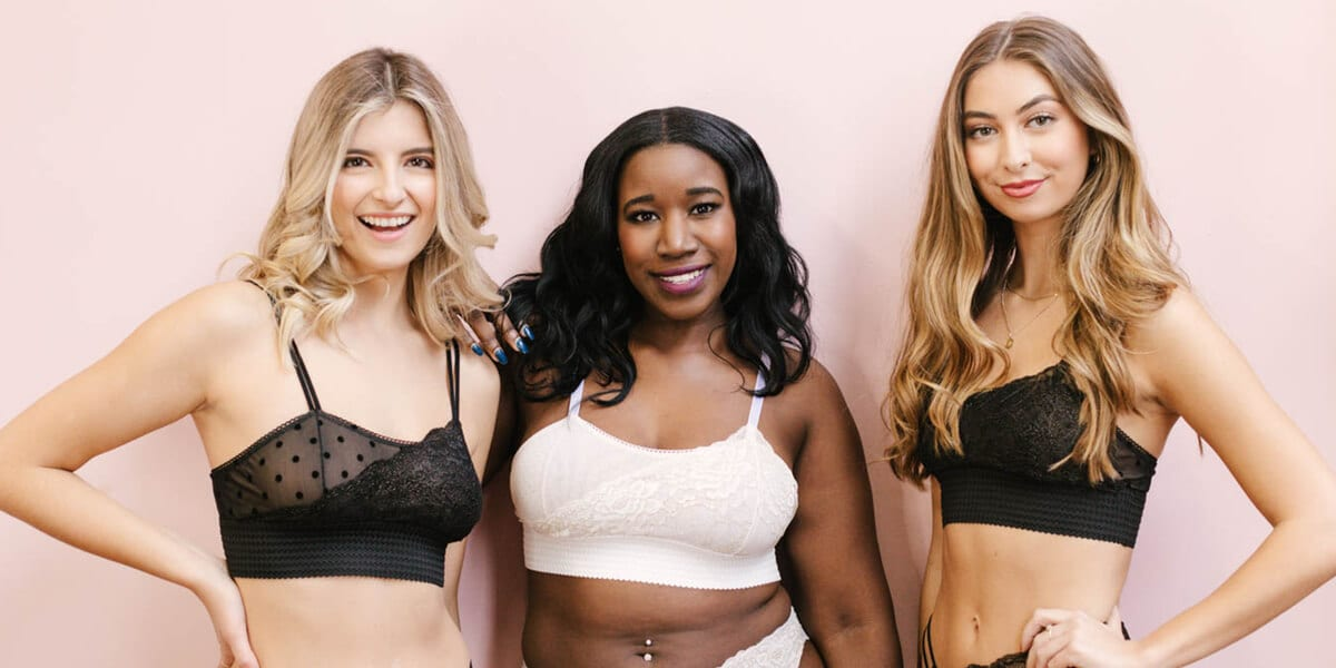 models wearing madalynne intimates lingerie
