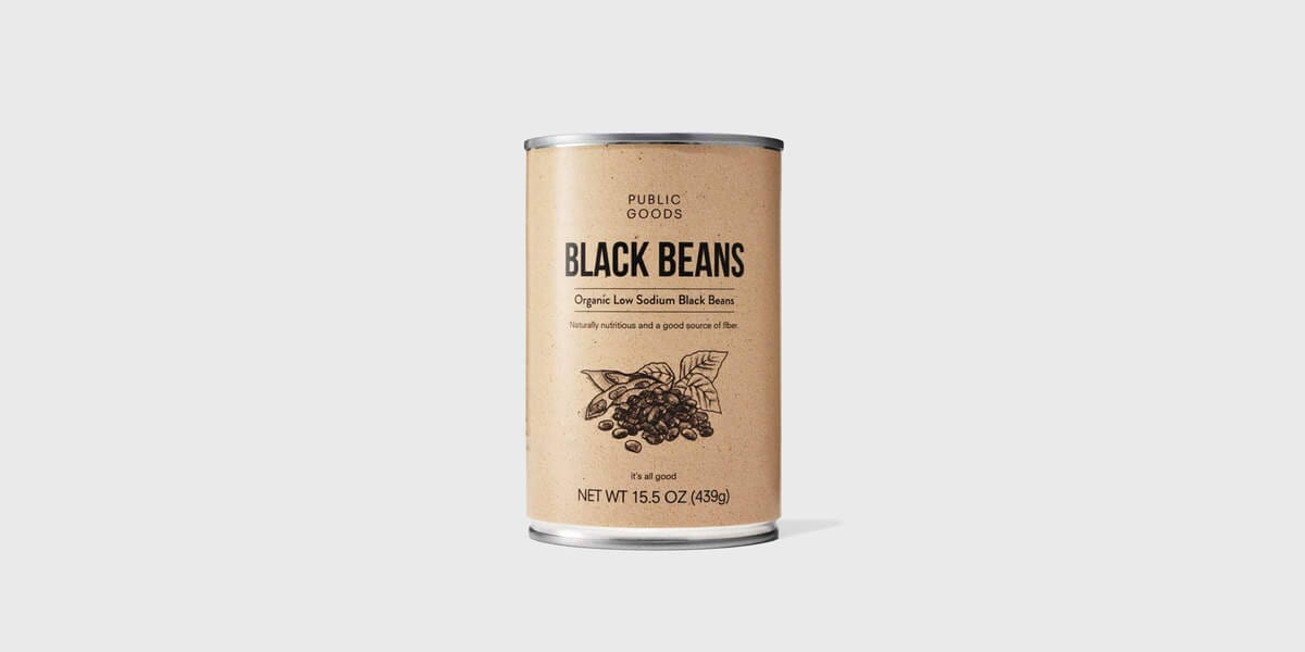 can of public goods black beans
