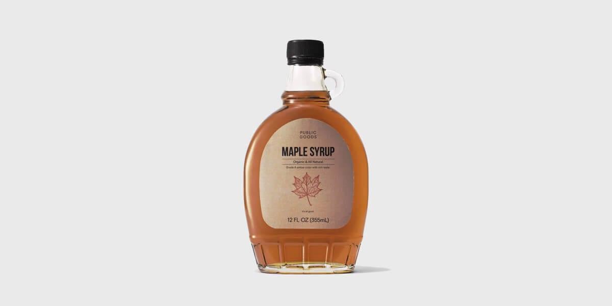public goods maple syrup bottle