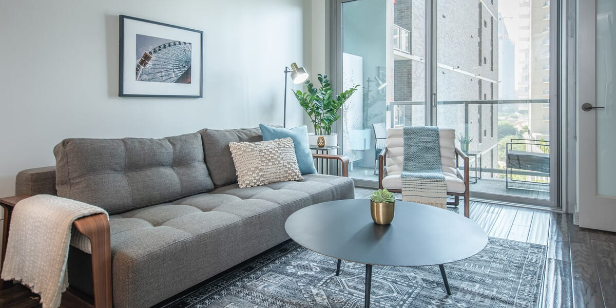 locale apartment living room in victory park