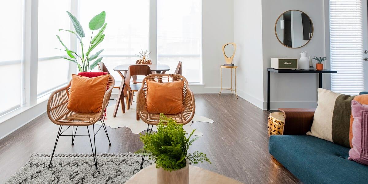 locale nashville apartment living room