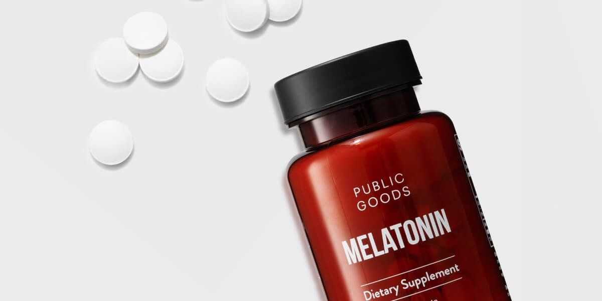 bottle of melatonin supplement