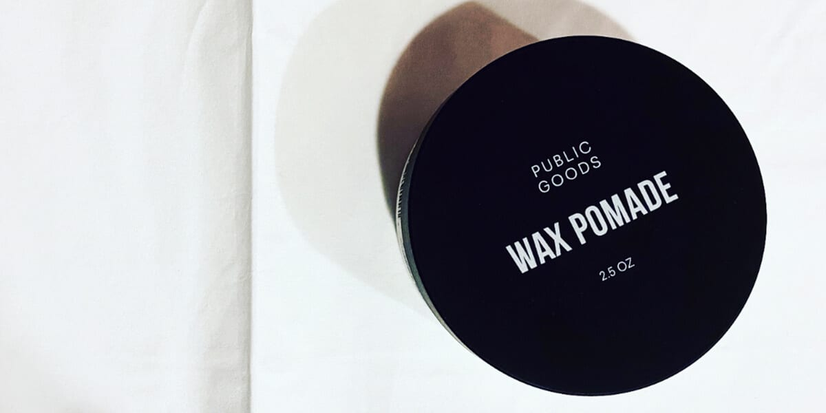 closed container of public goods wax pomade