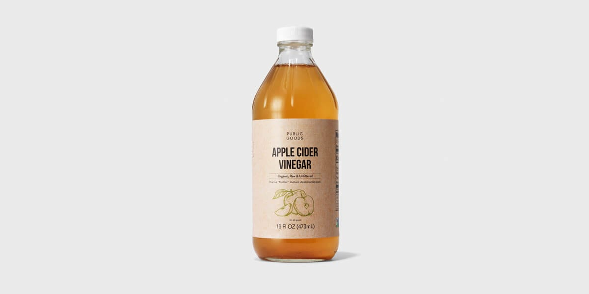 organic apple cider vinegar bottle