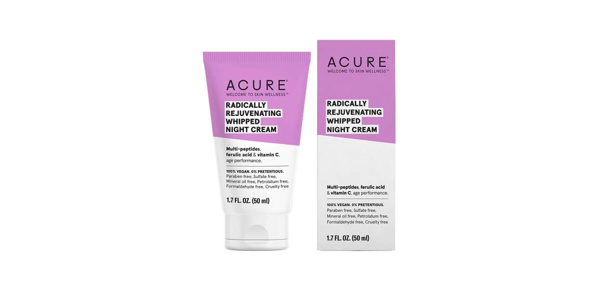tube of acure night cream moisturizer