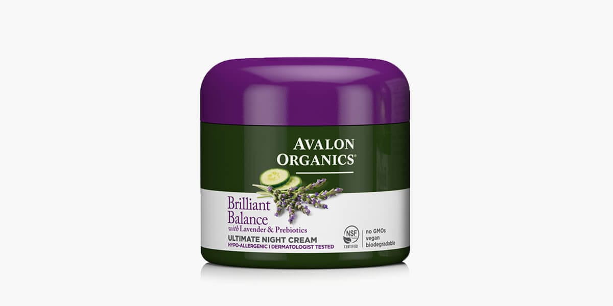 jar of avalon organics night cream moisturizer