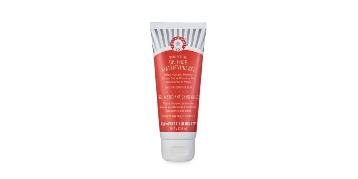 tube of first aid beauty oil free moisturizer