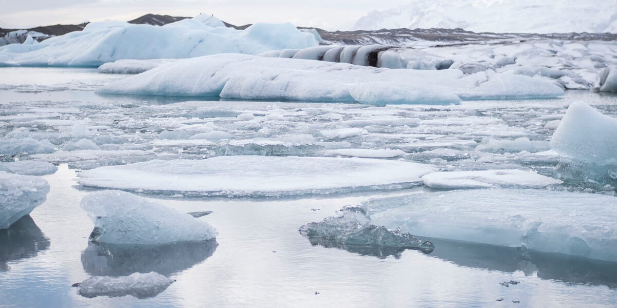 glaciers and icy water