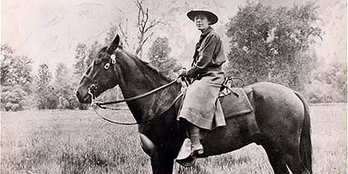 Claire Marie Hodges riding a horse