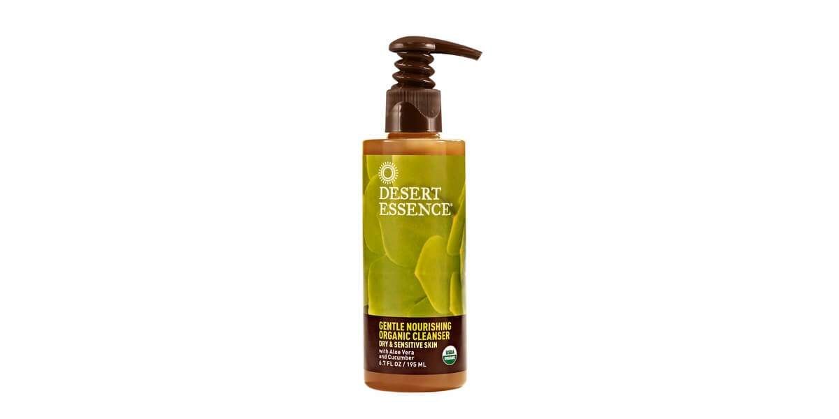 bottle of desert essence gentle nourishing organic cleanser