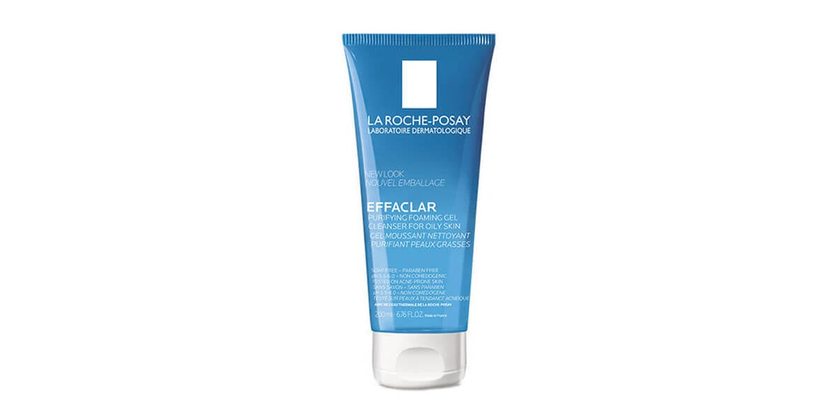 tube of la roche posay effaclar purifying foaming gel cleanser