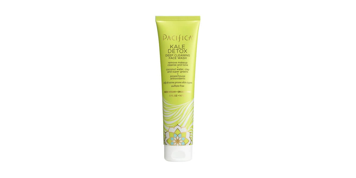 tube of pacifica kale detox deep cleansing face wash