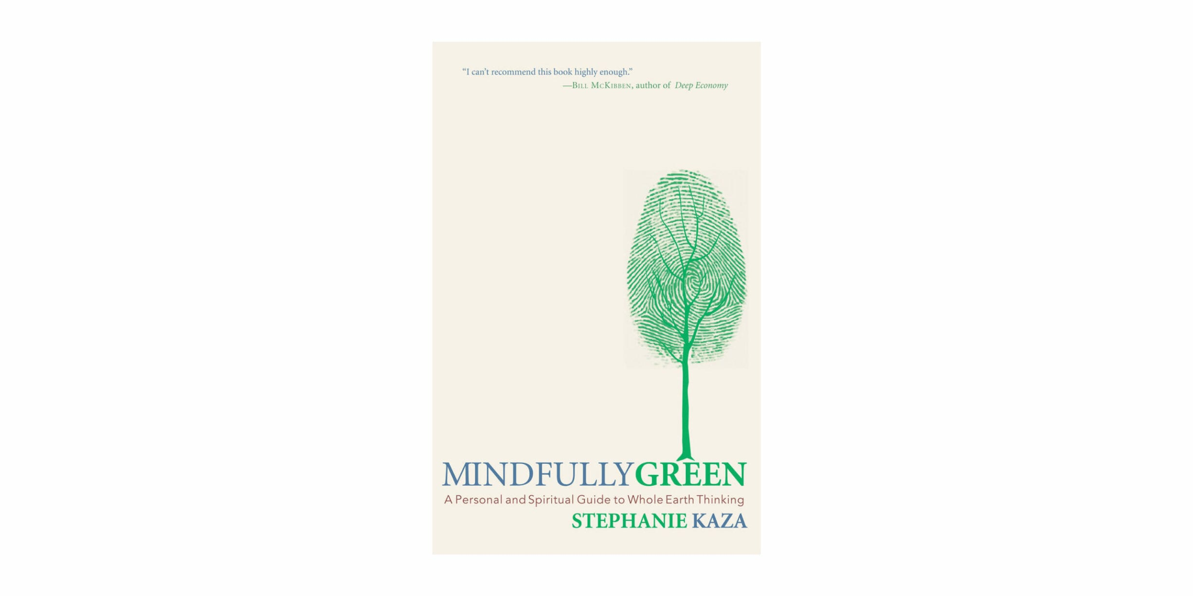mindfully green book cover