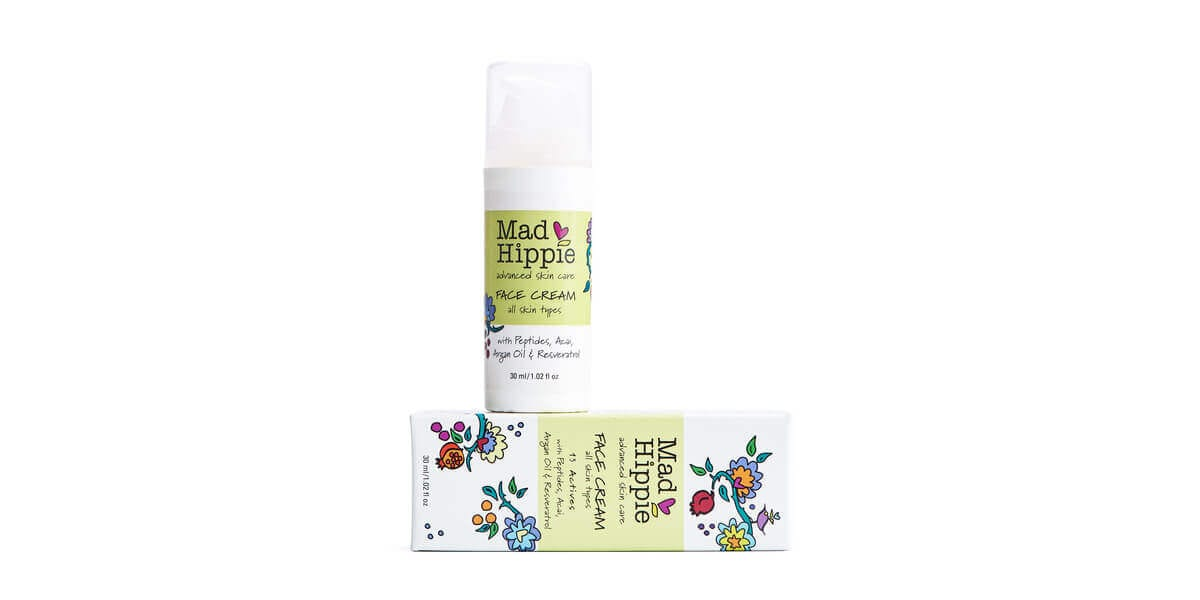 mad hippie face cream bottle and box