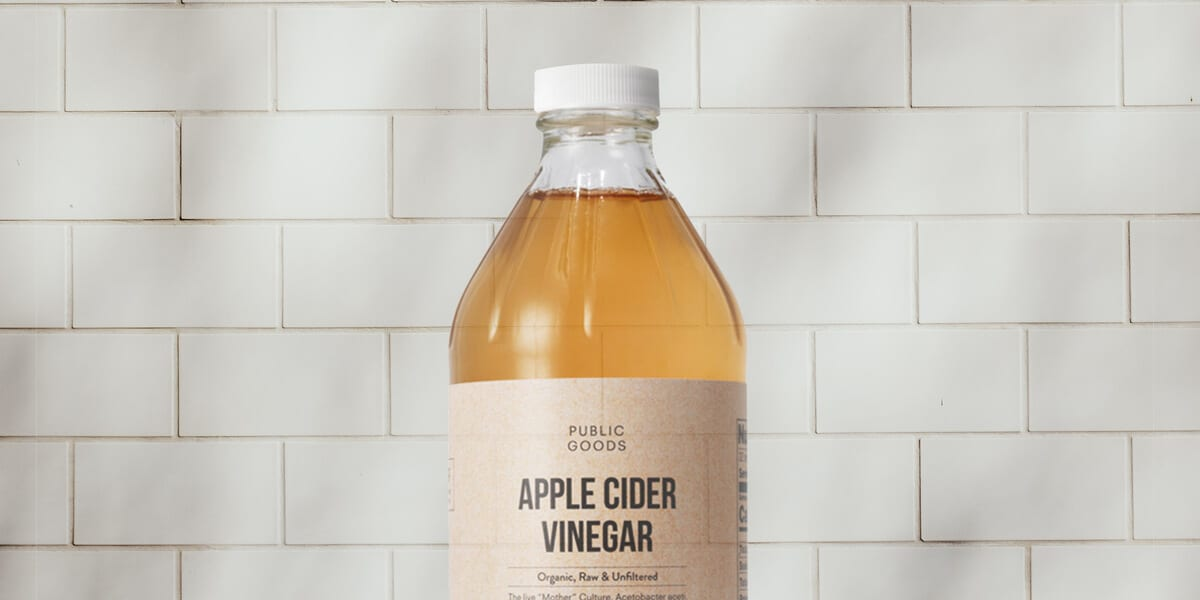 bottle of Public Goods apple cider vinegar