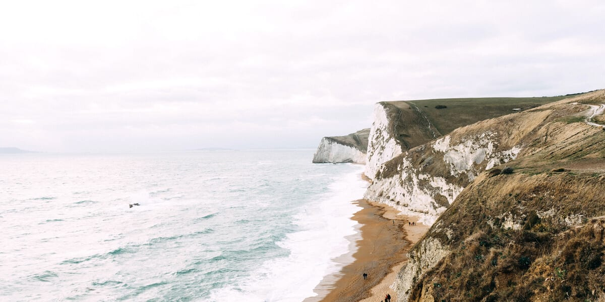 cliffs overlooking the sea