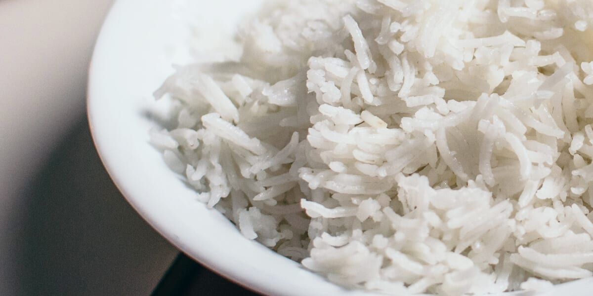 bowl of basmati rice