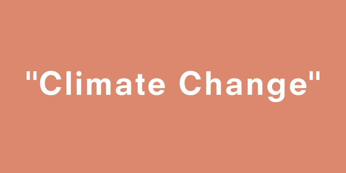 the words climate change in quotations