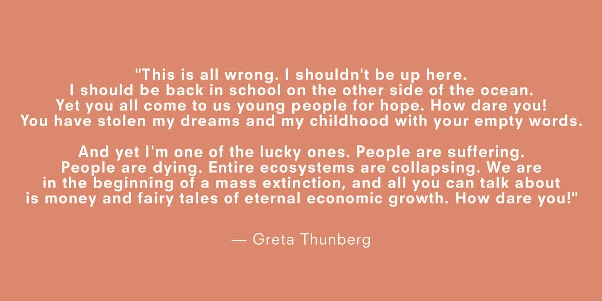 a quote about climate change by greta thunberg