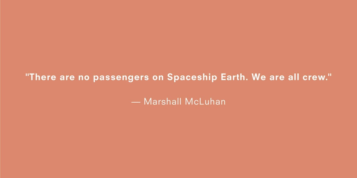 a quote about climate change by marshall mcluhan