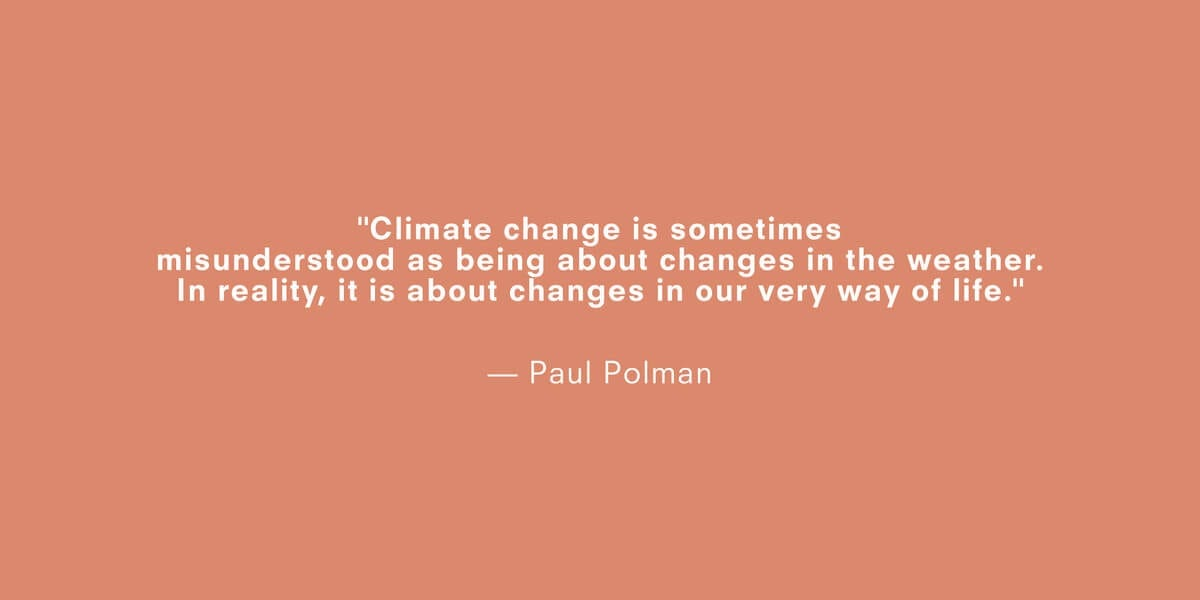 a quote about climate change by paul polman