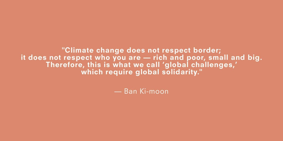 a quote about climate change by ban kimoon
