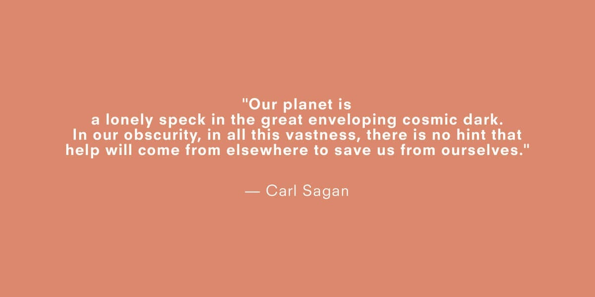 a quote about climate change by carl sagan