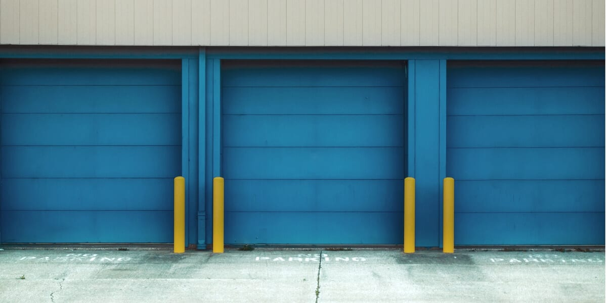blue storage unit