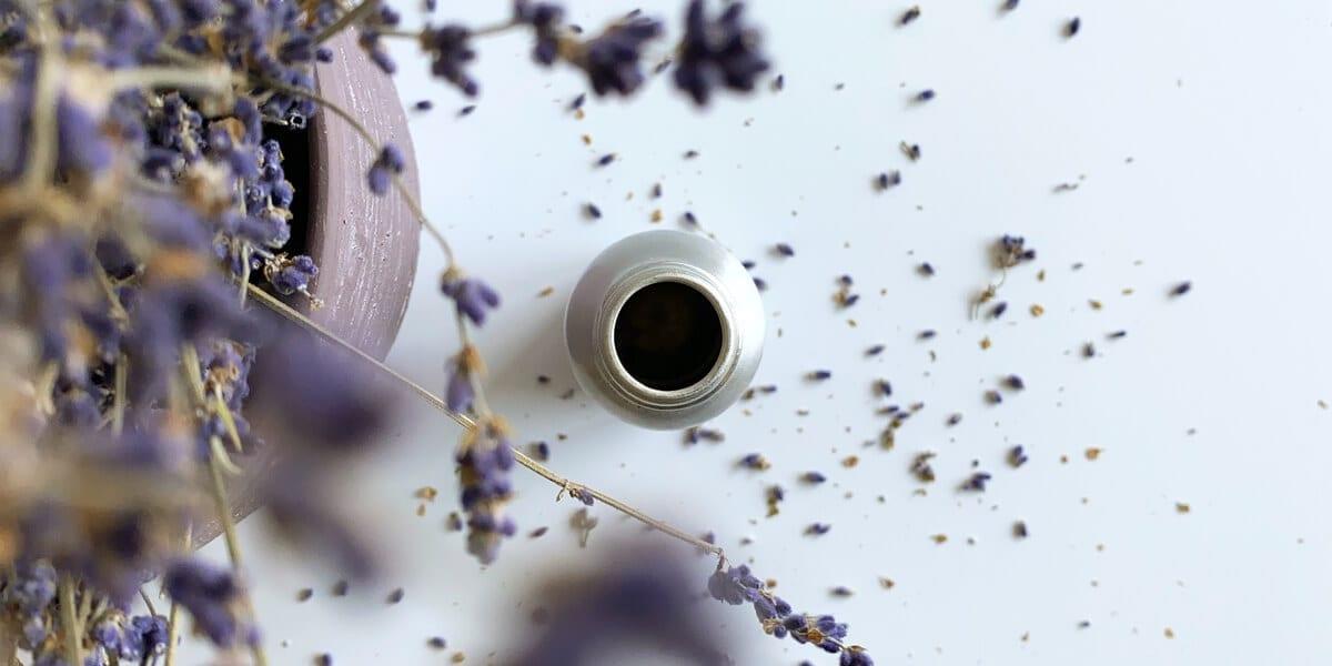 metal bottle, lavender
